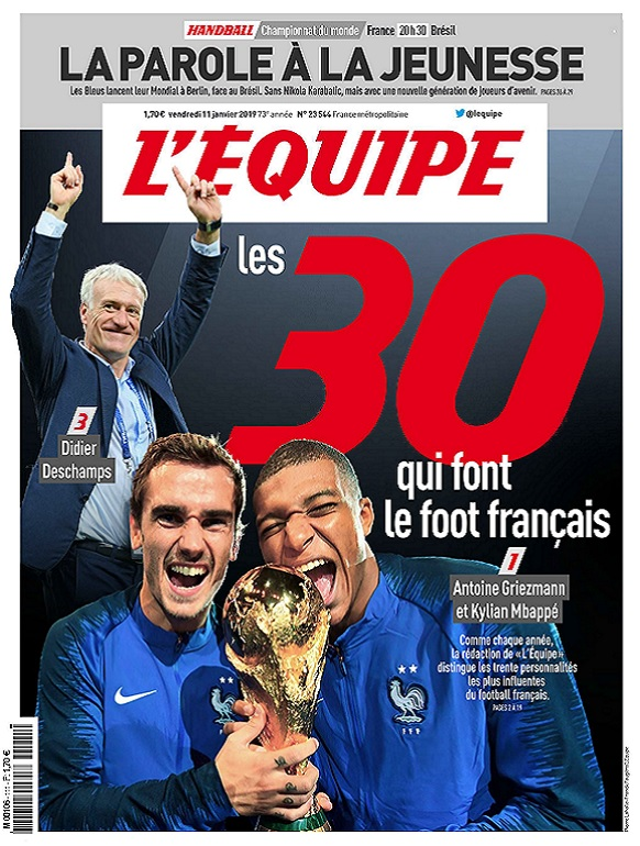 L'Equipe Du Vendredi 11 Janvier 2019