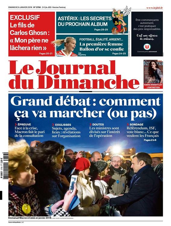 Le Journal Du Dimanche N°3756 Du 6 Janvier 2019