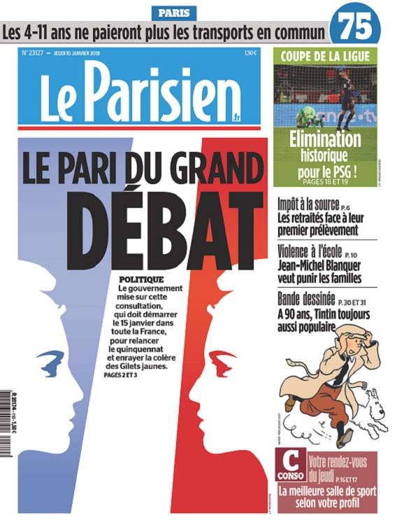 Le Parisien Du Jeudi 10 Janvier 2019