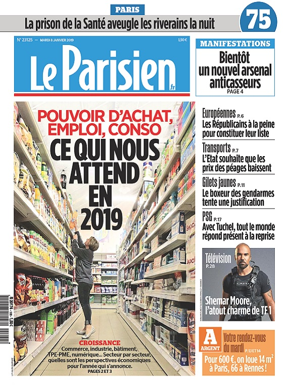 Le Parisien Du Mardi 8 Janvier 2019
