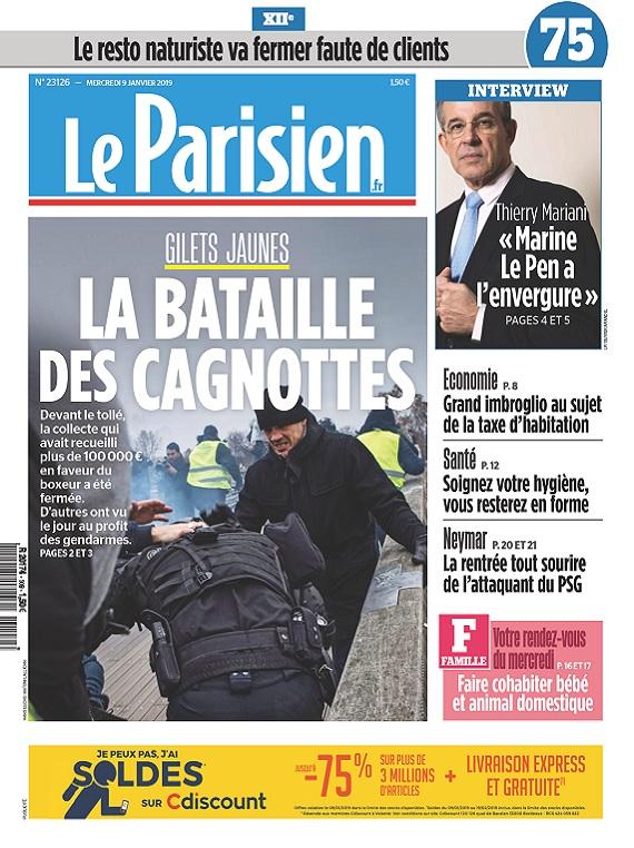 Le Parisien Du Mercredi 9 Janvier 2019