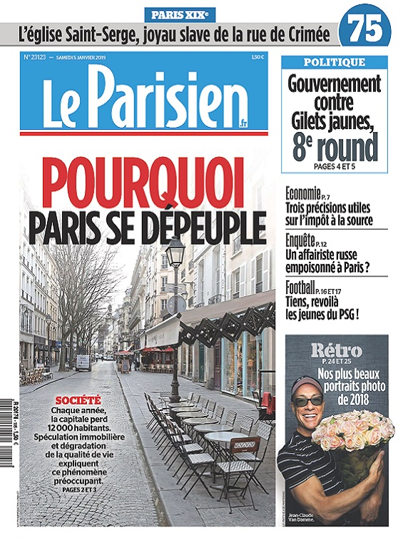 Le Parisien Du Samedi 5 Janvier 2019