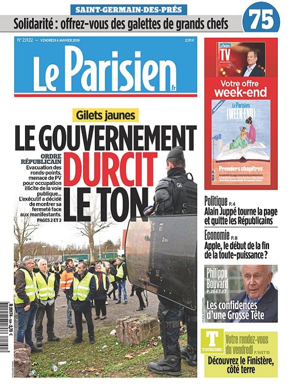 Le Parisien Du Vendredi 4 Janvier 2019