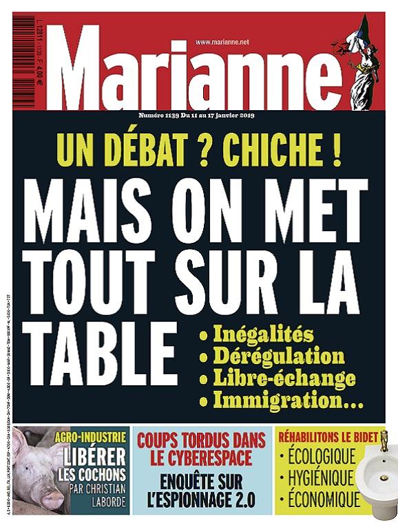 Marianne N°1139 Du 11 au 17 Janvier 2019