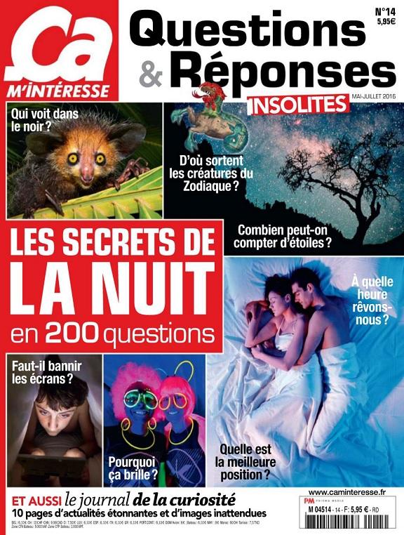 Ça M'Intéresse Questions et Réponses N°14 – Les Secrets De La Nuit