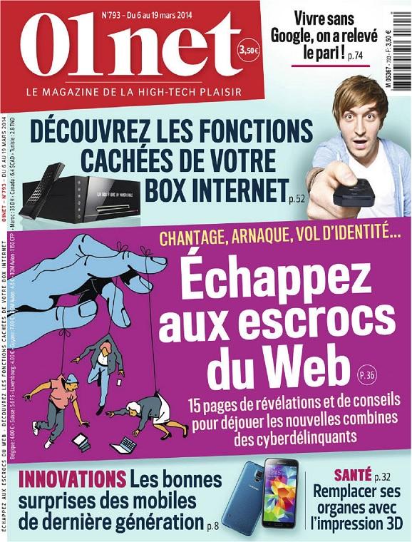01Net N°793 – Échappez Aux Escrocs Du Web