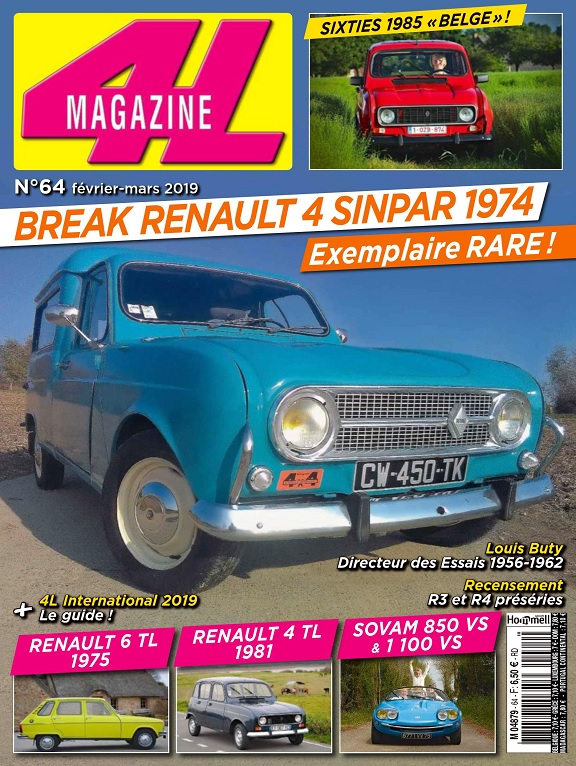 4L Magazine N°64 – Février-Mars 2019
