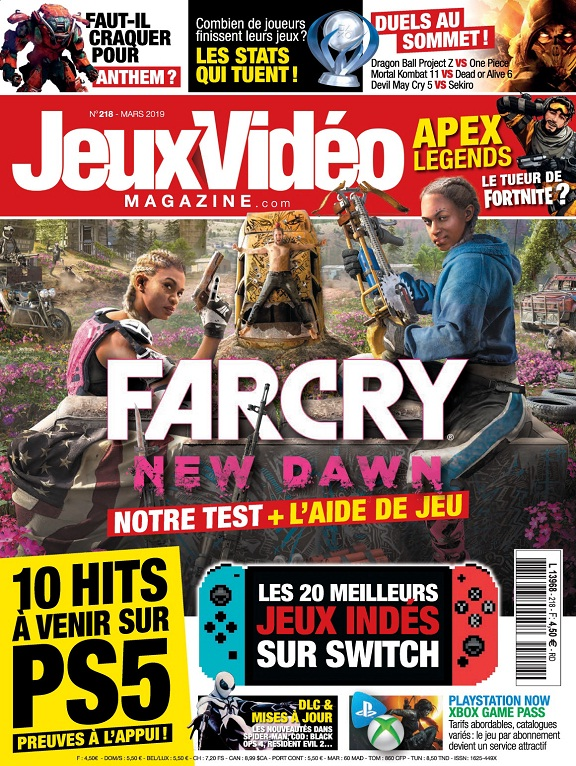 Jeux Vidéo Magazine N°218 – Mars 2019