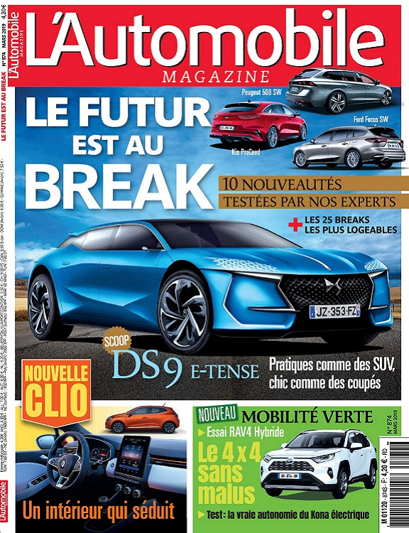 L'Automobile Magazine N°874 – Mars 2019