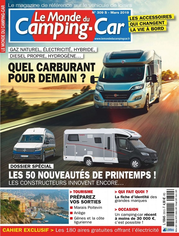 Le Monde Du Camping-Car N°309 – Mars 2019