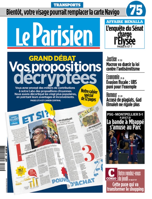 Le Parisien Du Jeudi 21 Février 2019