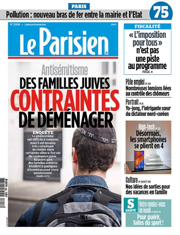 Le Parisien Du Lundi 25 Février 2019