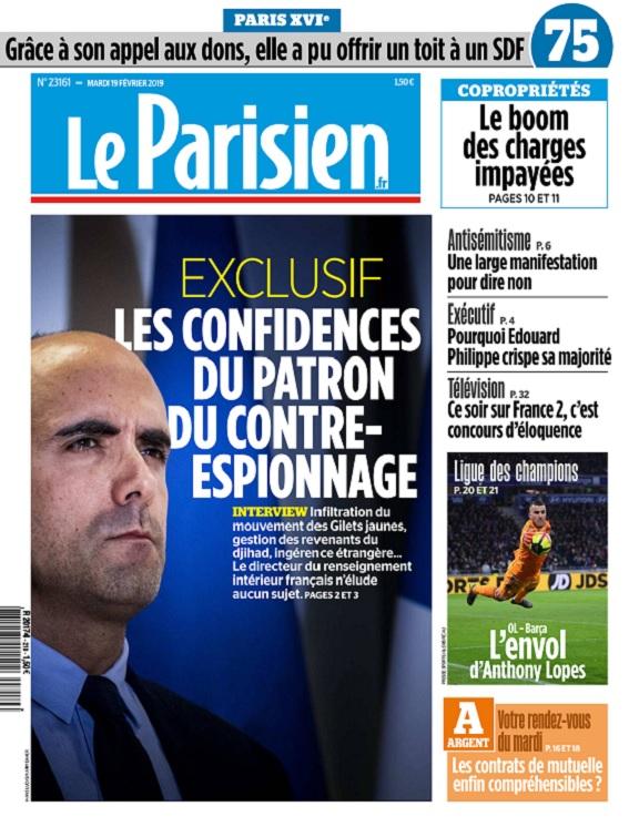Le Parisien Du Mardi 19 Février 2019