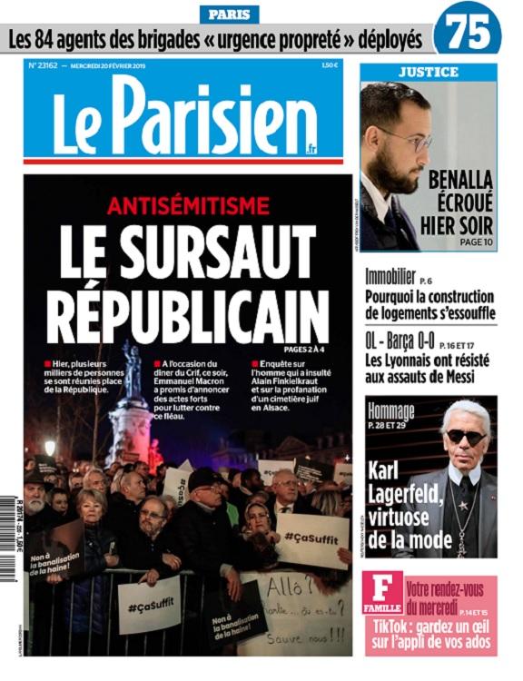 Le Parisien Du Mercredi 20 Février 2019