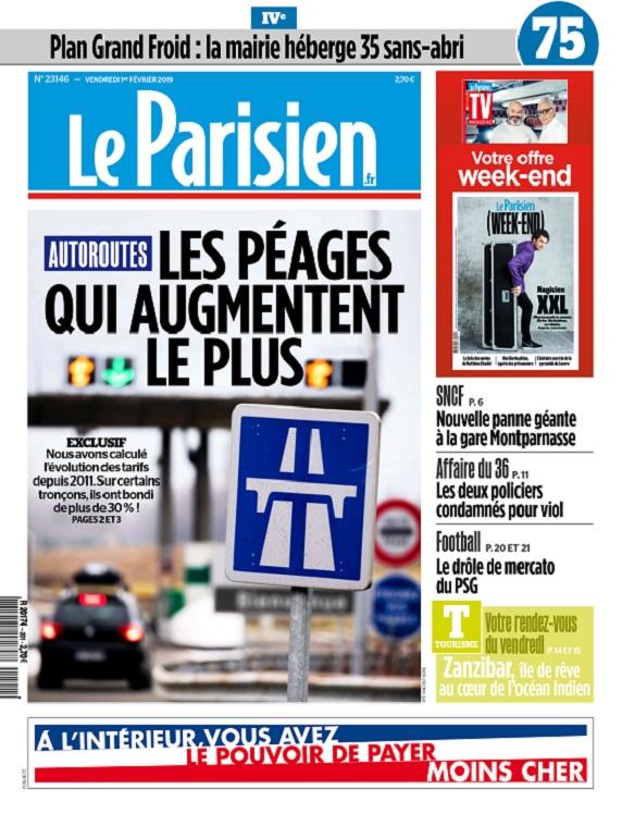 Le Parisien Du Vendredi 1er Février 2019