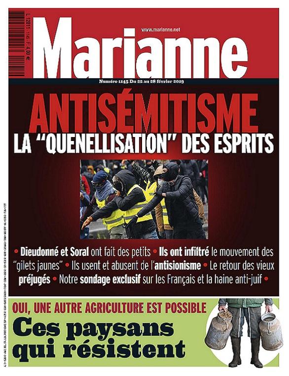 Marianne N°1145 Du 22 au 28 Février 2019