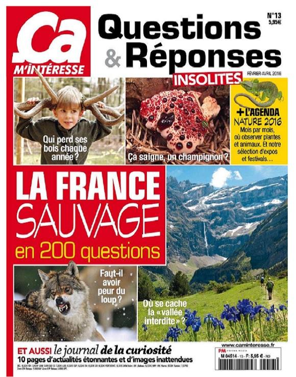 Ça M'intéresse Questions et Réponses N°13 – La France Sauvage