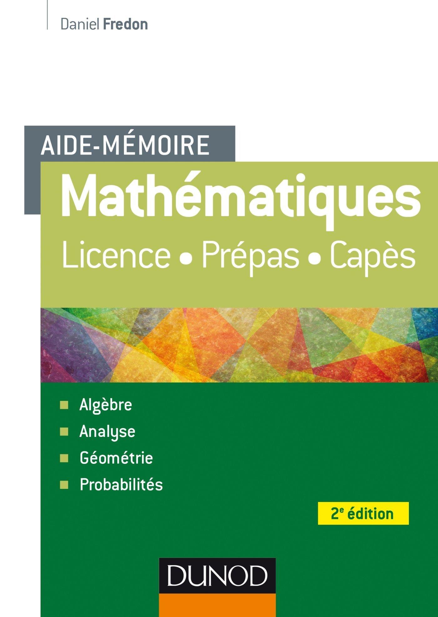 Aide Mémoire – Mathématiques