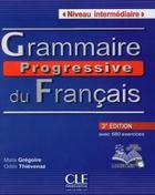 Grammaire progressive du français – Niveau intermédiaire – Livre + CD + Livre-web – 3ème édition
