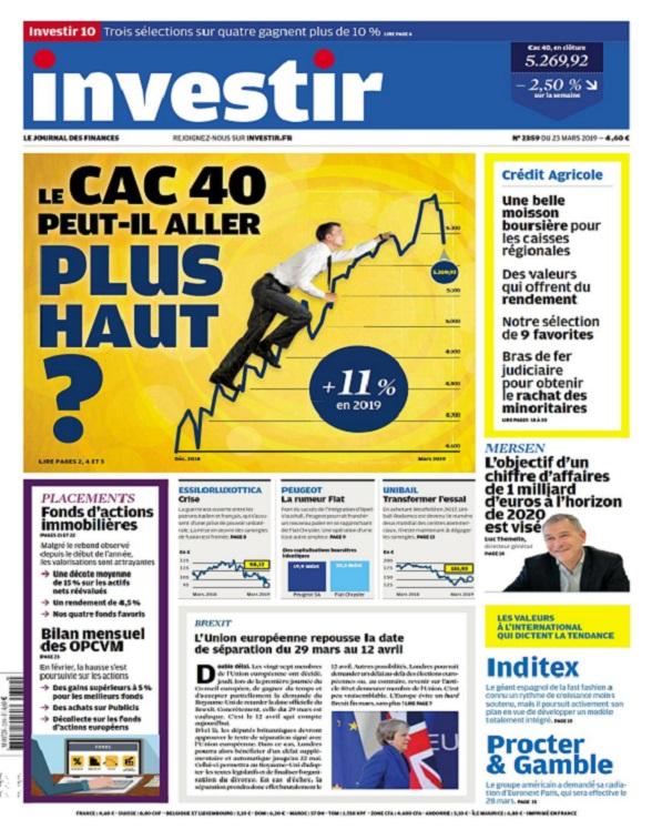 Investir N°2359 Du 23 Mars 2019