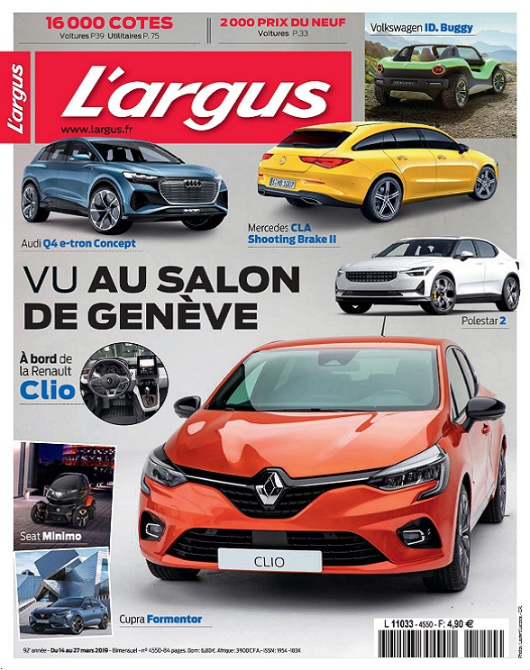 L'Argus N°4550 Du 14 mars 2019