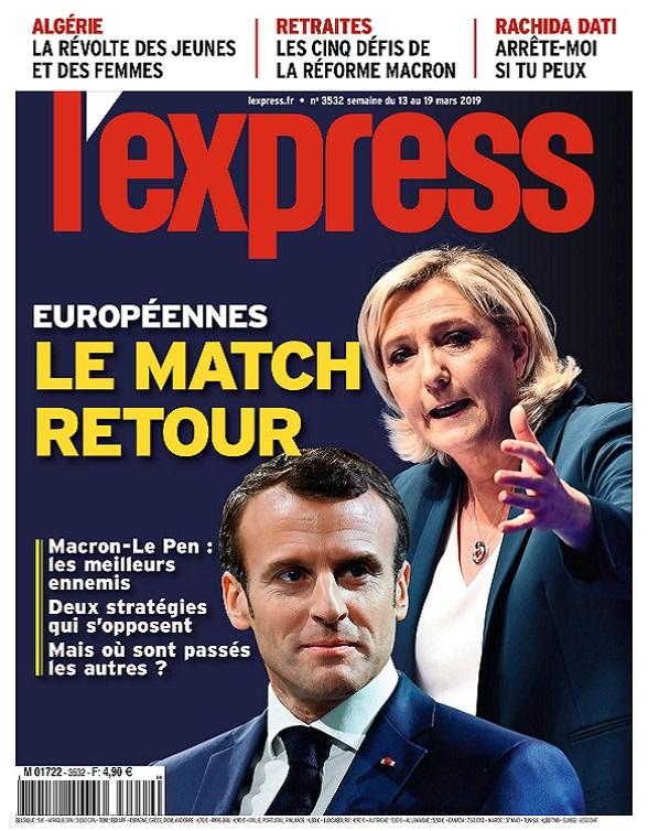 L'Express N°3532 Du 13 au 19 Mars 2019