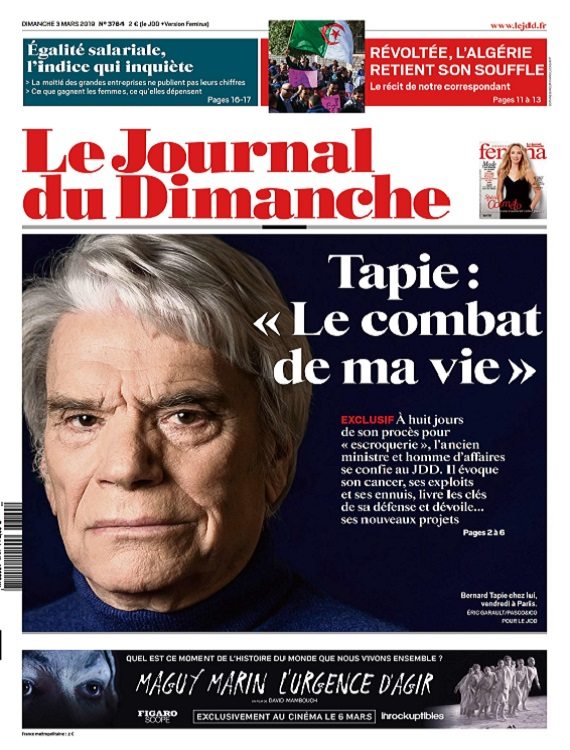 Le Journal Du Dimanche N°3764 Du 3 Mars 2019