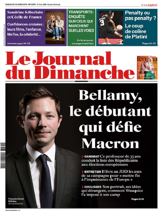 Le Journal Du Dimanche N°3765 Du 10 Mars 2019