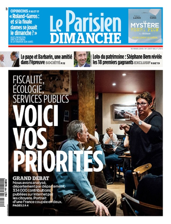 Le Parisien Du Dimanche 10 Mars 2019