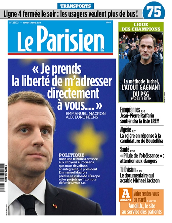 Le Parisien Du Mardi 5 Mars 2019