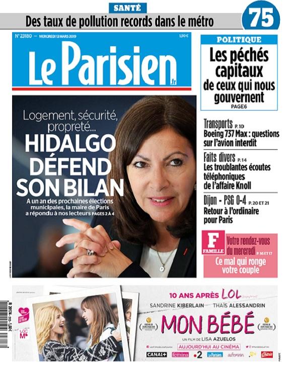 Le Parisien Du Mercredi 13 Mars 2019