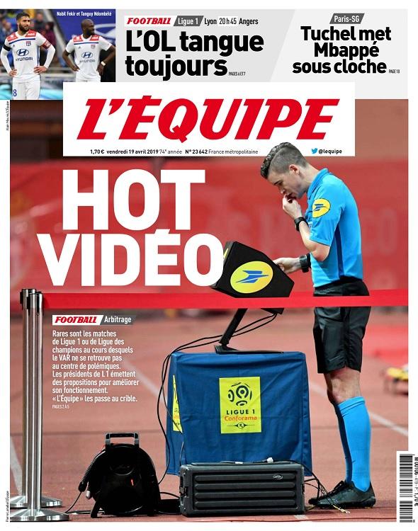 L'Equipe Du Vendredi 19 Avril 2019