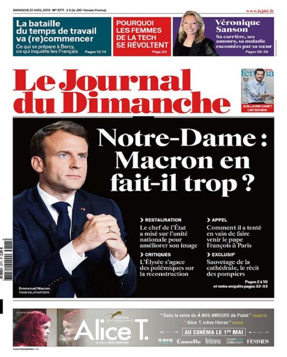 Le Journal Du Dimanche N°3771 Du 21 Avril 2019
