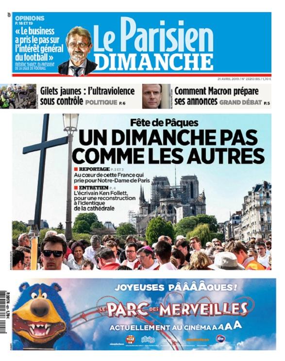 Le Parisien Du Dimanche 21 Avril 2019