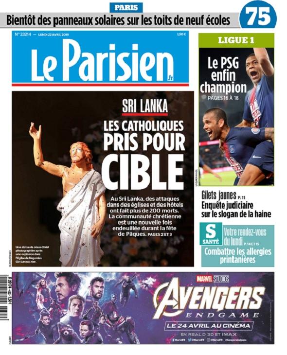 Le Parisien Du Lundi 22 Avril 2019