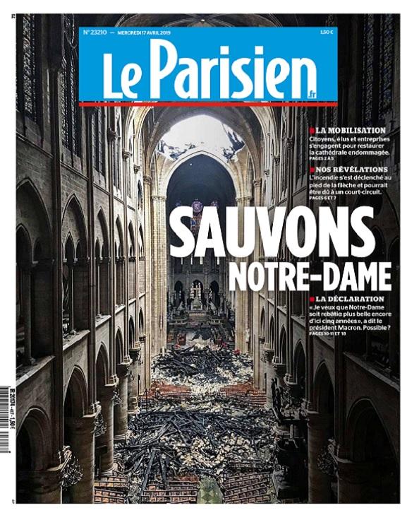 Le Parisien Du Mercredi 17 Avril 2019