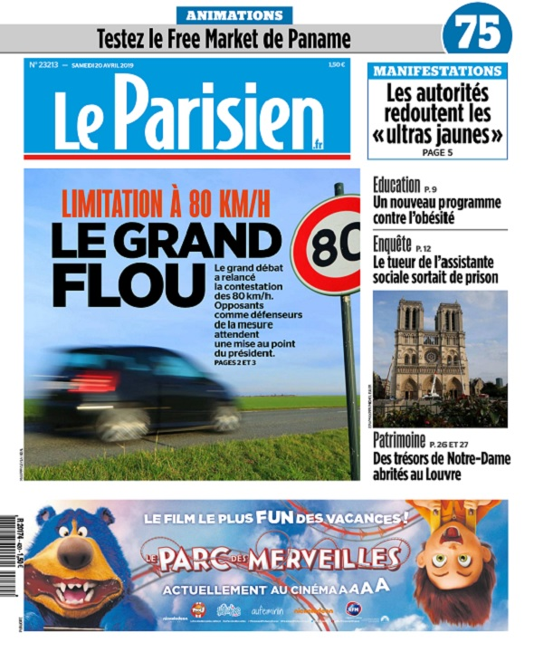 Le Parisien Du Samedi 20 Avril 2019