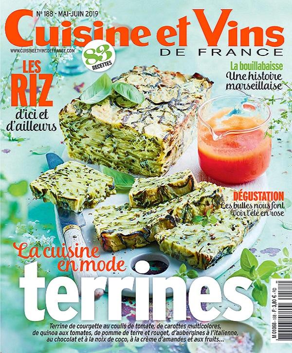 Cuisine et Vins de France N°188 - Mai-Juin 2019