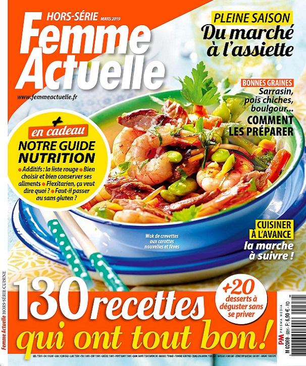 Femme Actuelle Hors Série Cuisine N°68 – Mars 2019