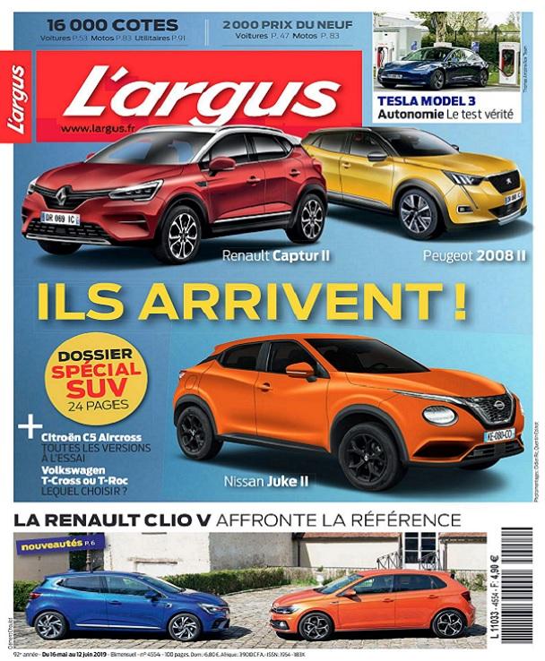 L'Argus N°4554 Du 16 Mai au 12 Juin 2019