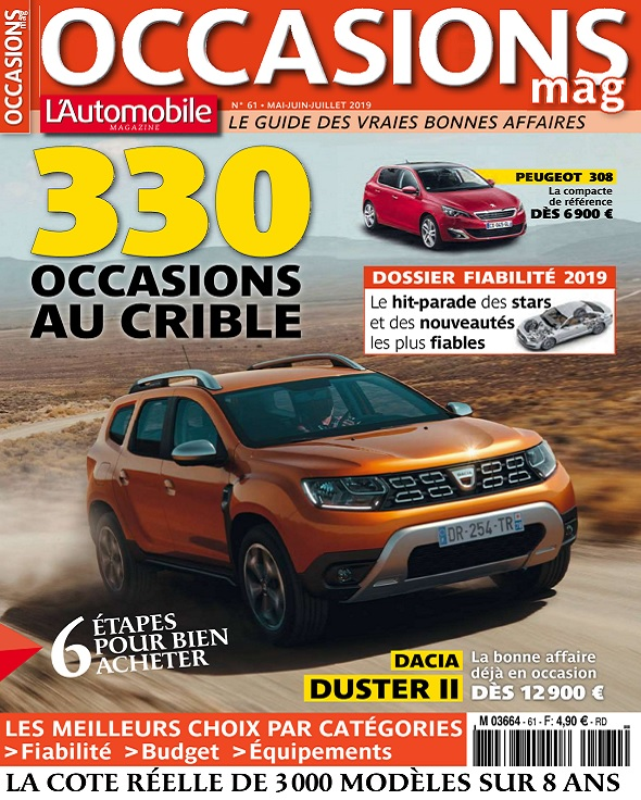 L'Automobile Occasions Mag N°61 - Mai-Juillet 2019