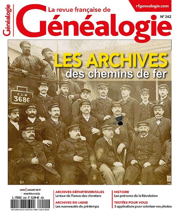 La Revue Française De Généalogie N°242 – Juin-Juillet 2019