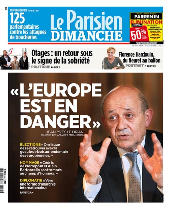 Le Parisien Du Dimanche 12 Mai 2019
