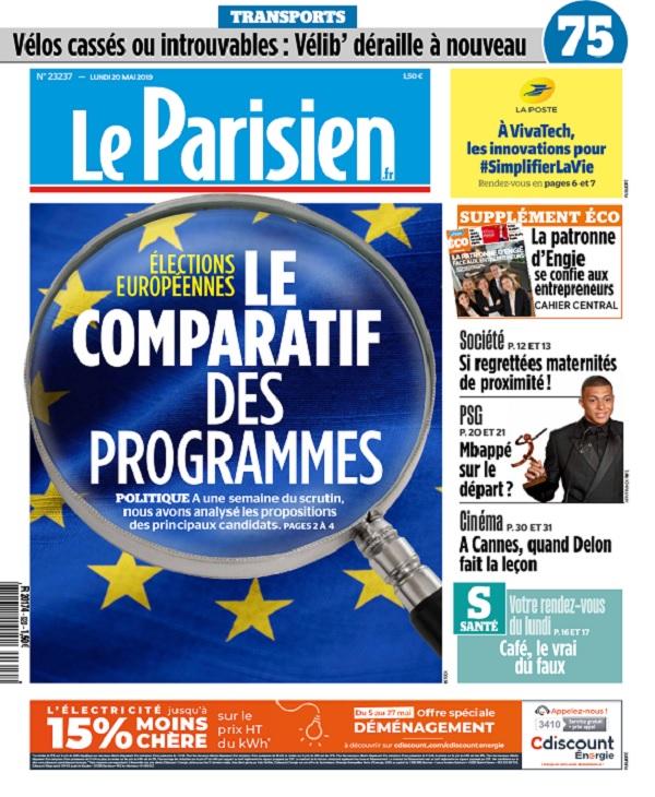 Le Parisien Du Lundi 20 Mai 2019