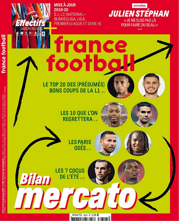 France Football N°3825 Du 10 Septembre 2019
