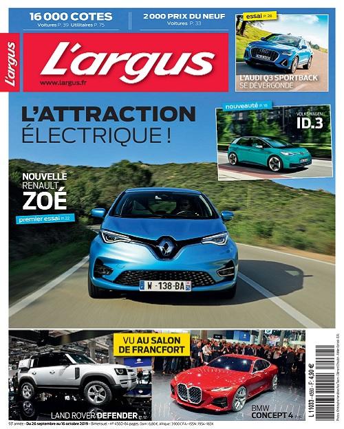 L'Argus N°4560 Du 26 Septembre 2019