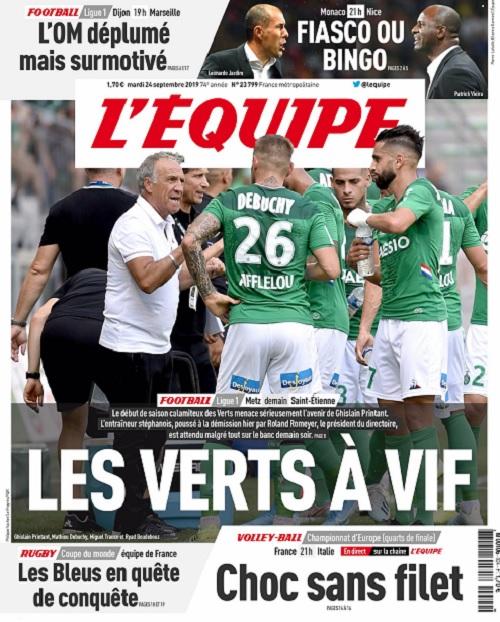 L'Equipe Du Mardi 24 Septembre 2019
