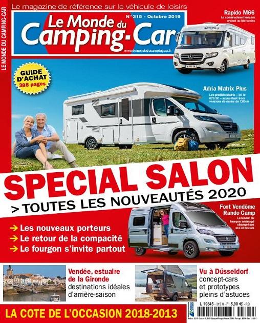 Le Monde Du Camping-Car N°315 – Octobre 2019