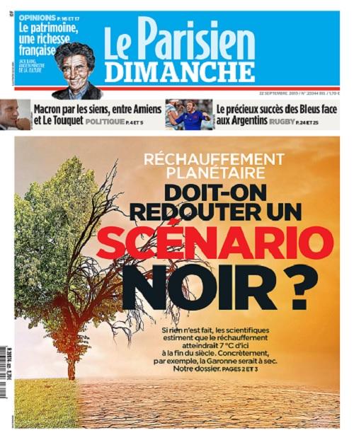 Le Parisien Du Dimanche 22 Septembre 2019