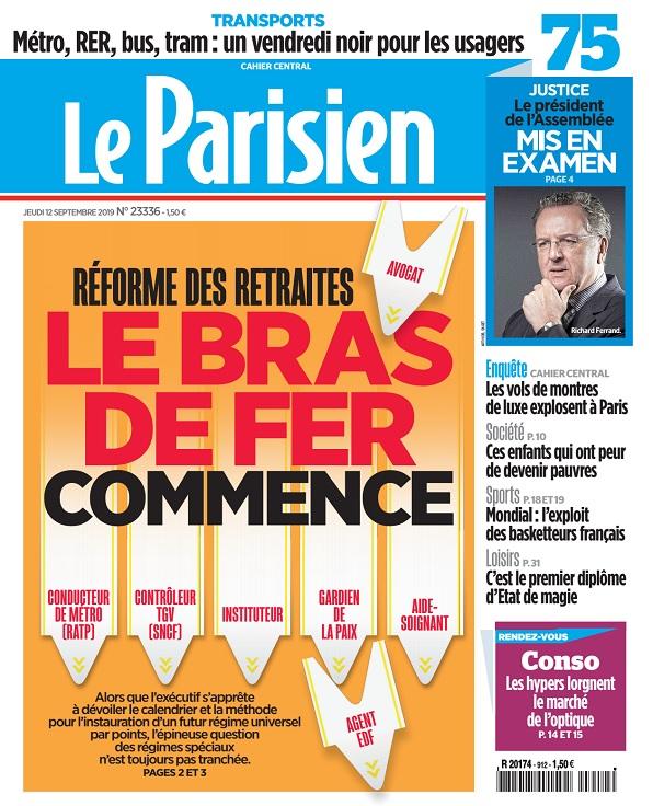 Le Parisien Du Jeudi 12 Septembre 2019